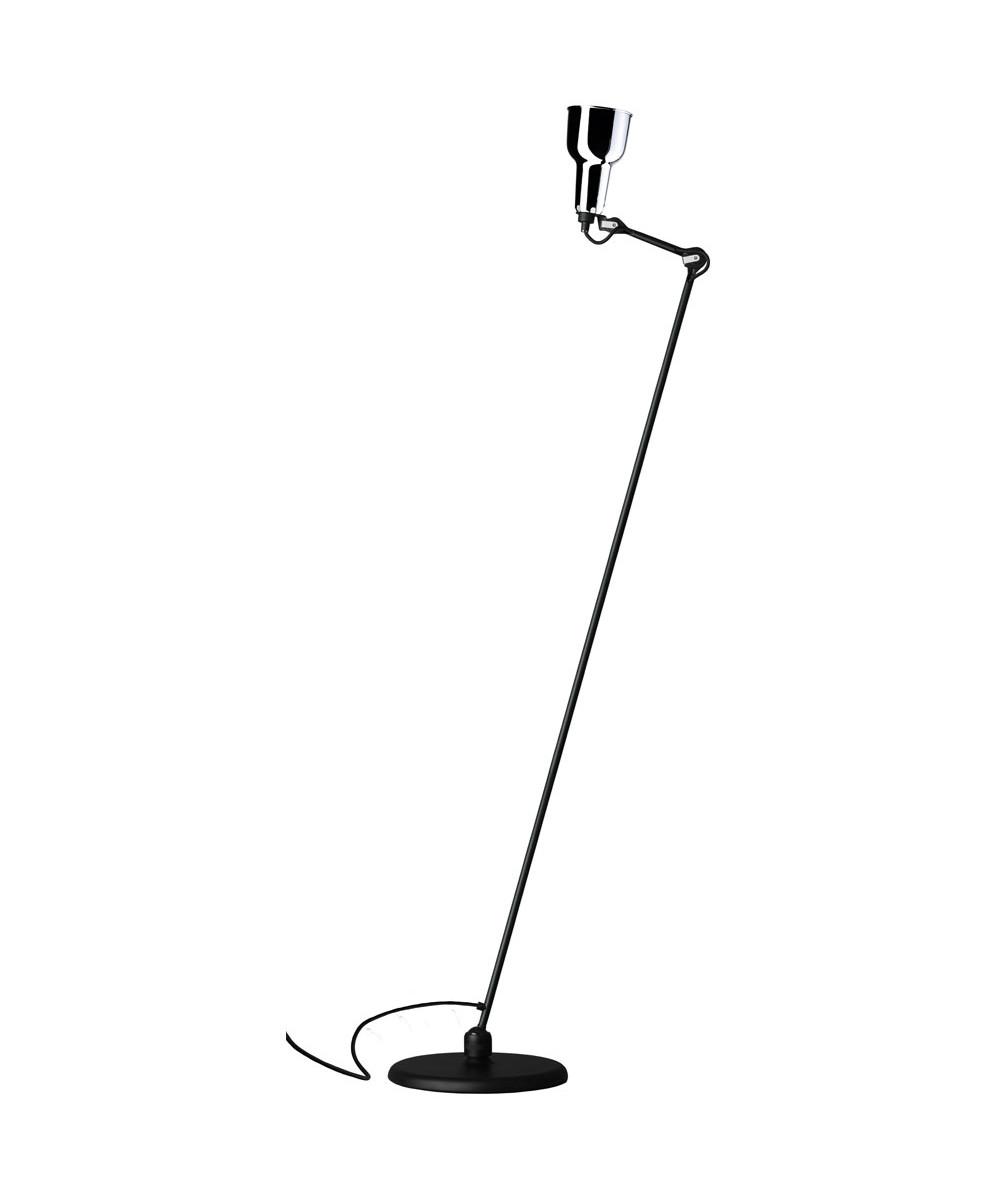 230 Gulvlampe Sort/Krom - Lampe Gras