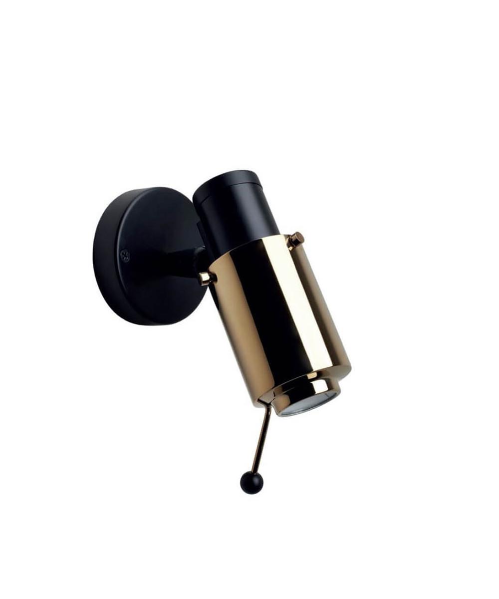 Biny Spot LED m/Stang Sort/Guld - DCW thumbnail