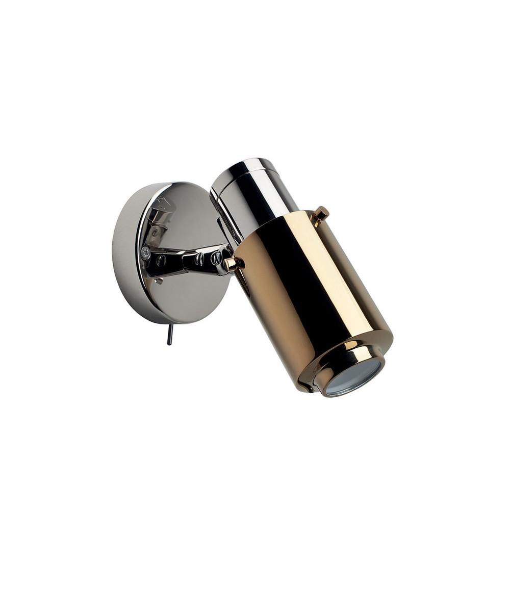 Biny Spot LED m/Afbryder Nikkel/Guld - DCW thumbnail