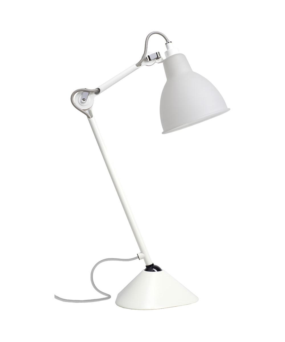 Image of   205 Bordlampe Hvid/Glas - Lampe Gras
