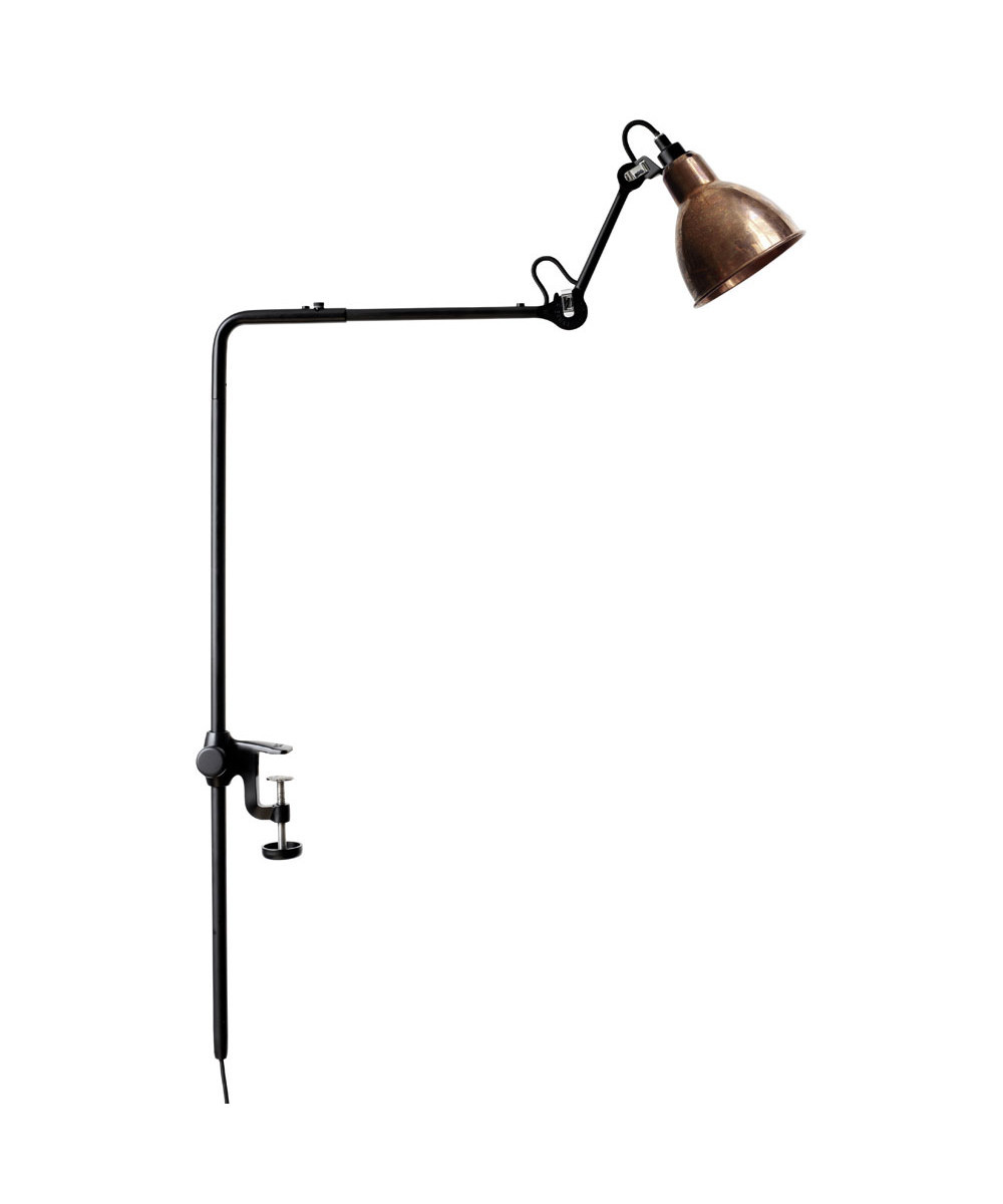 226 Bordlampe/Reol Lampe Sort/Kobber - Lampe Gras