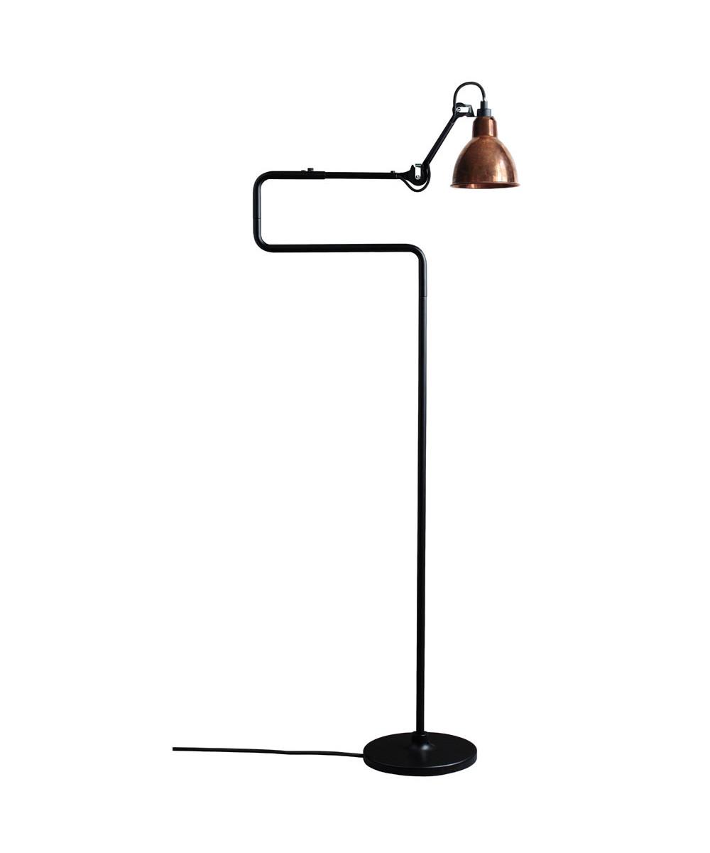 411 Gulvlampe Sort/Raw Kobber - Lampe Gras thumbnail