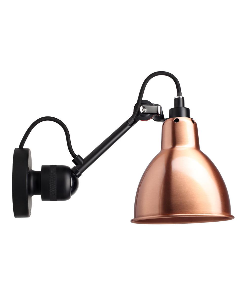 304SW Væglampe Sort/Kobber/Hvid - Lampe Gras thumbnail