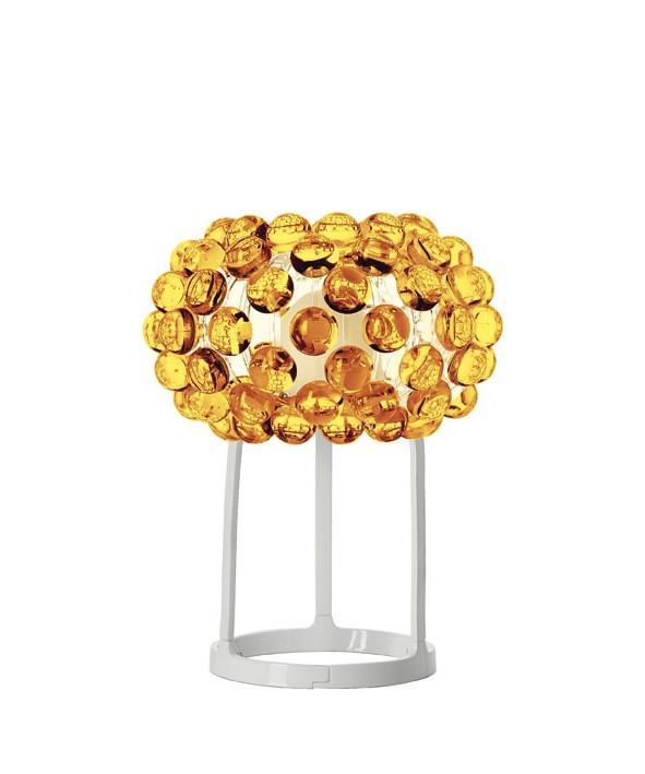 caboche tischleuchte gelb gold foscarini. Black Bedroom Furniture Sets. Home Design Ideas