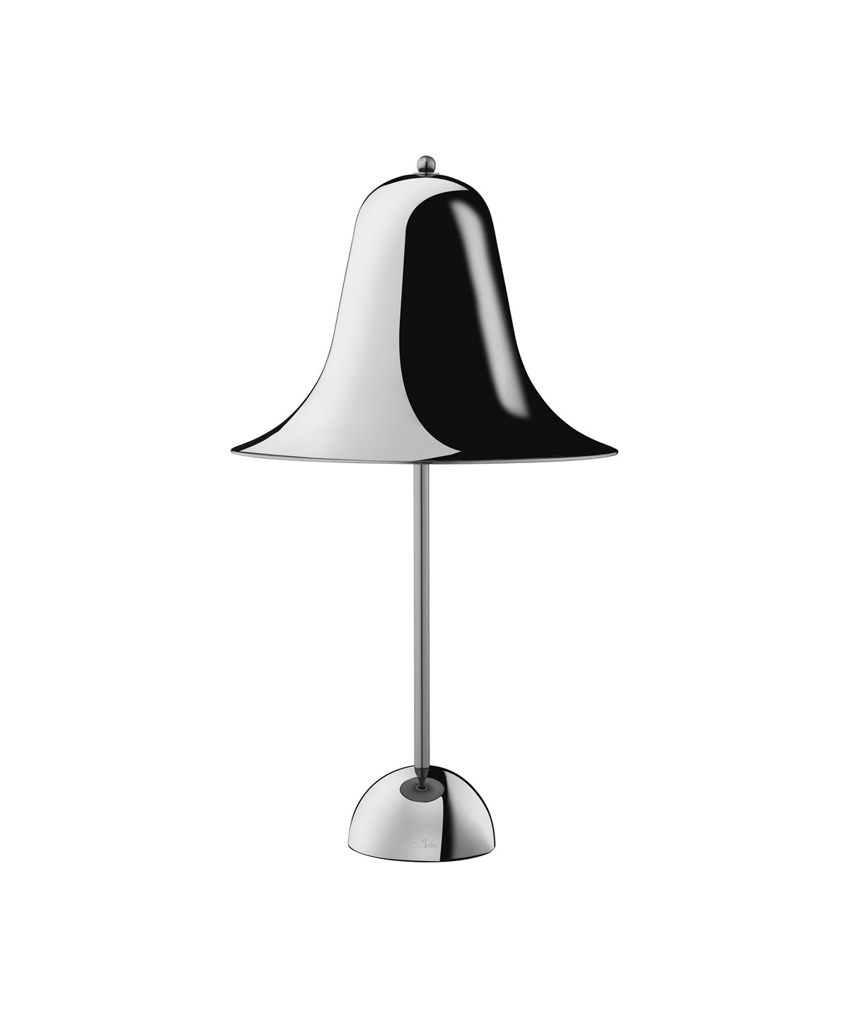 Image of   Pantop Bordlampe Sort Krom - Verpan