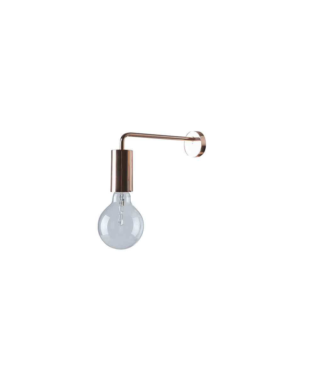 Alvorlig Cool Væglampe Kobber - Frandsen QM17
