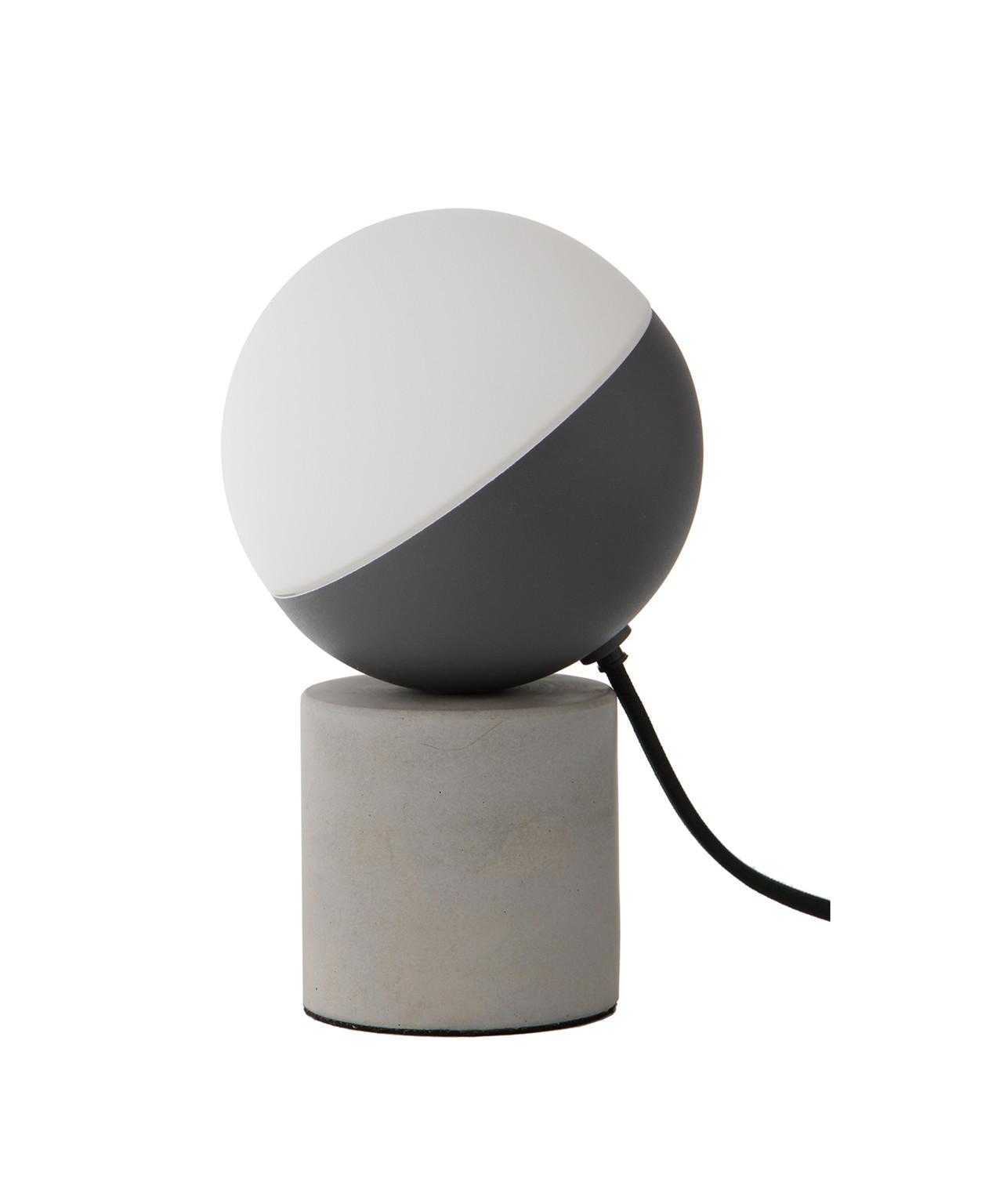 Fabian Mini Bordlampe Matt Svart/Betong/Opal Hvit - Frandsen