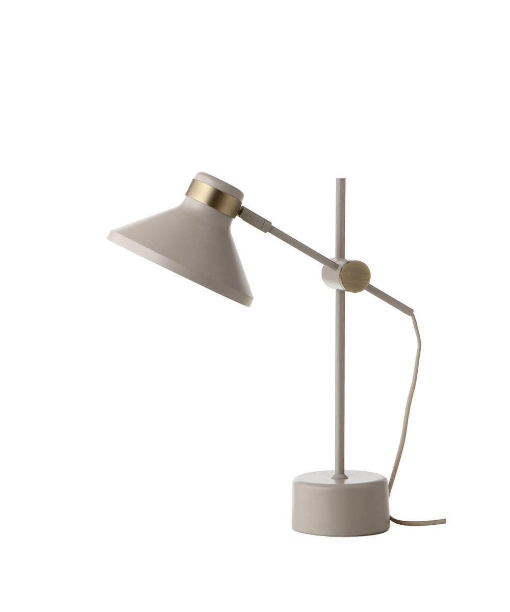 Mr Bordlampe Mat Taupe/Antik Messing - Frandsen