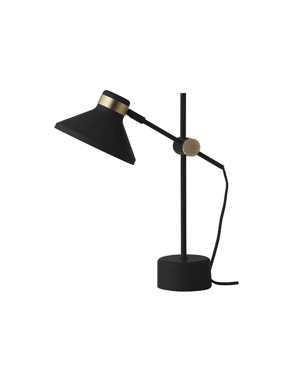 Mr Bordlampe Mat Sort/Antik Messing - Frandsen