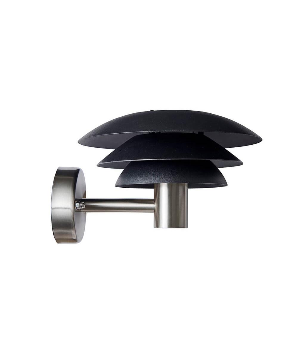 Image of   DL25 Udendørs Væglampe Black/Steel - DybergLarsen