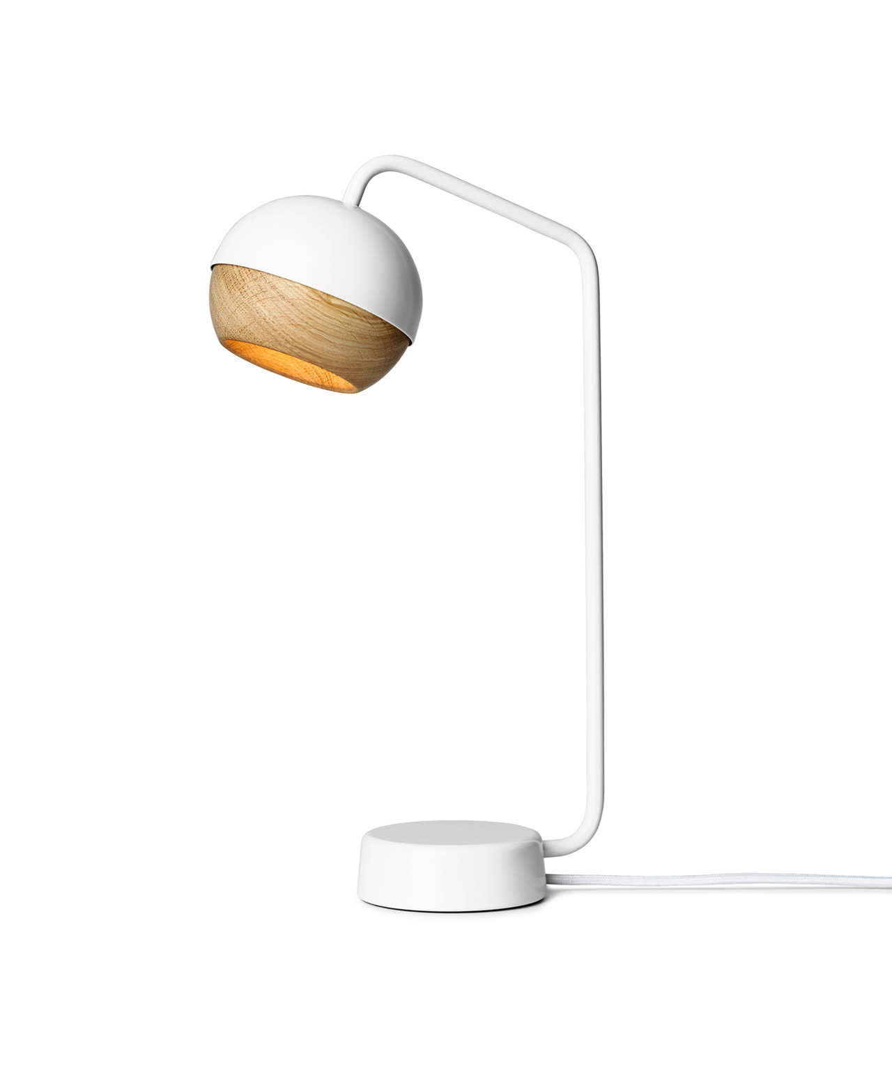 Ray bordlampe hvid