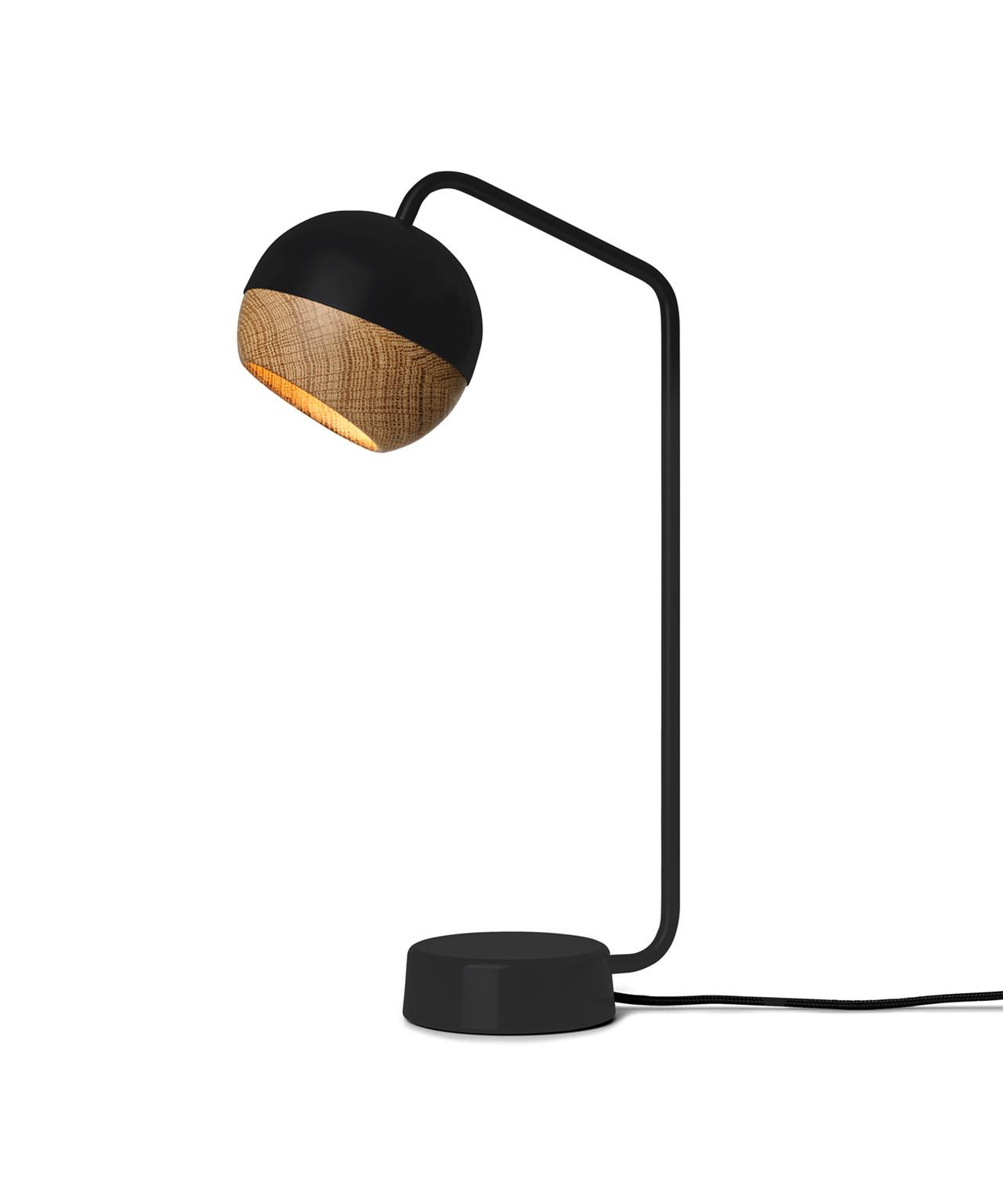 Ray bordlampe sort