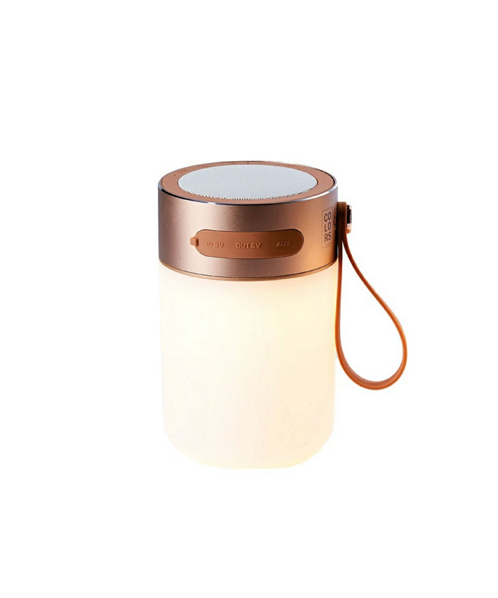 Led sound jar gold