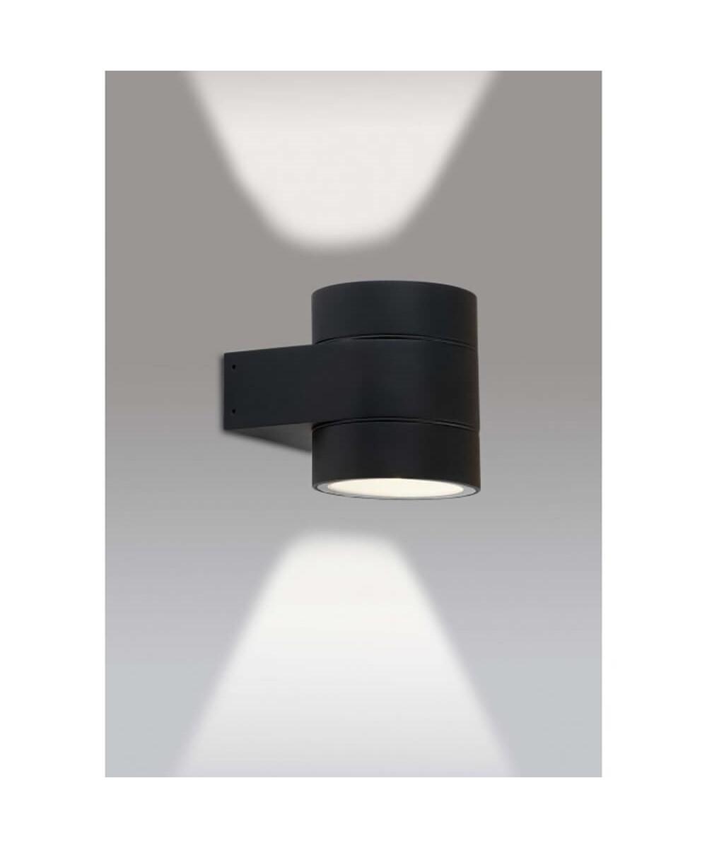Image of DOLIO W90 LED Udendørsvæglampe Up/Down Sort - ANTIDARK
