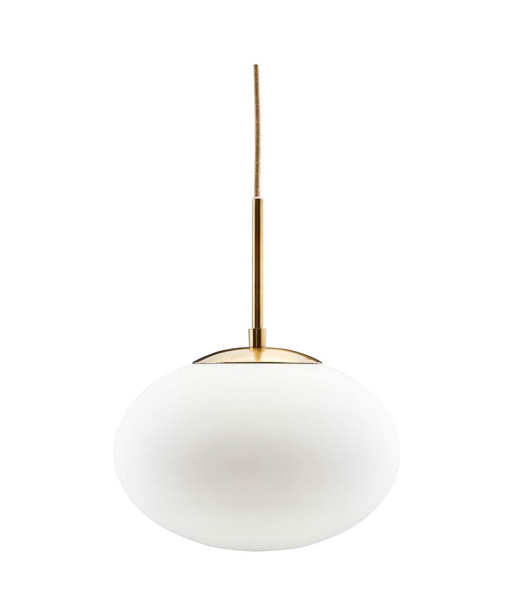 opal pendel lampe 30cm hvid messing house doctor. Black Bedroom Furniture Sets. Home Design Ideas