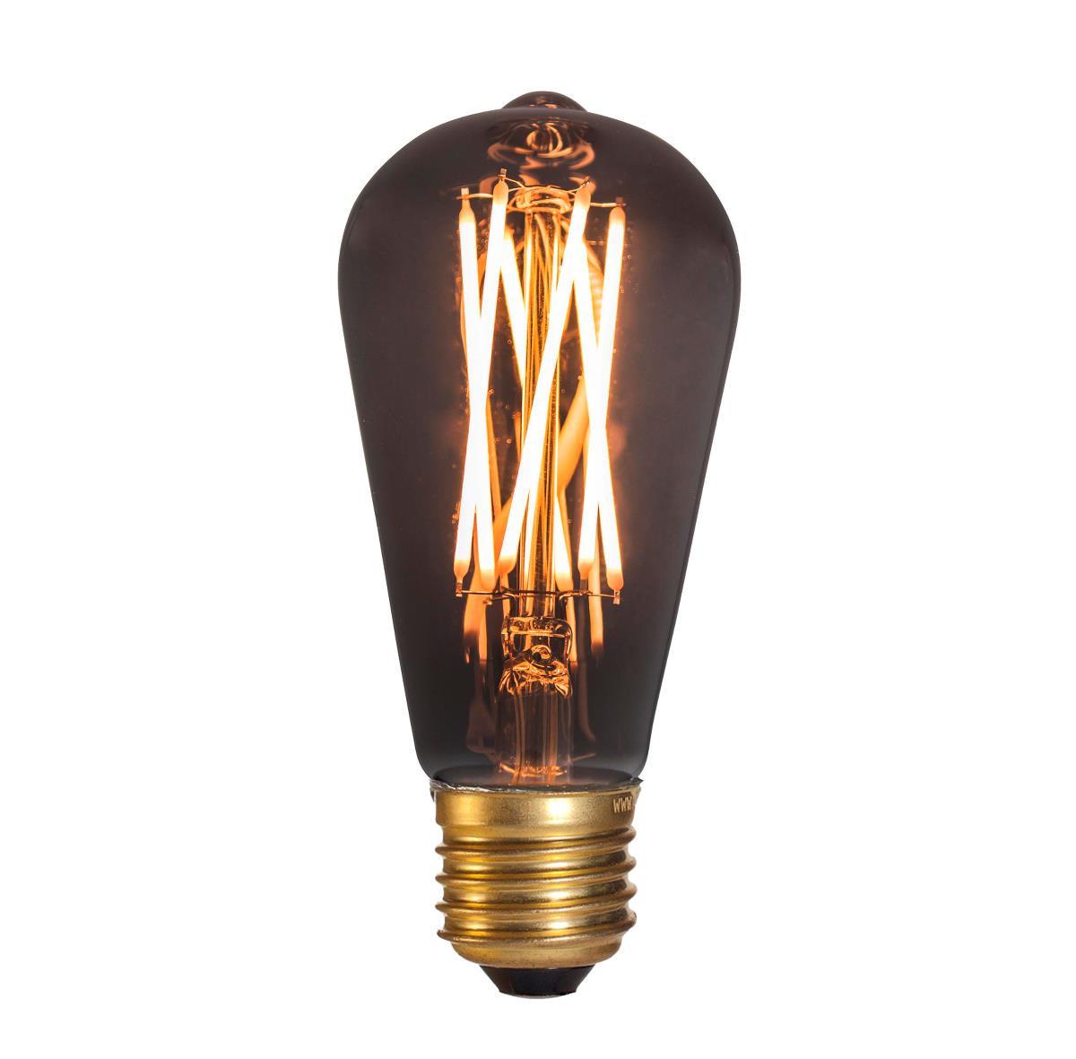Image of   Pære LED 4W (130lm) Edison Smoke Dæmpbar E27 - GN