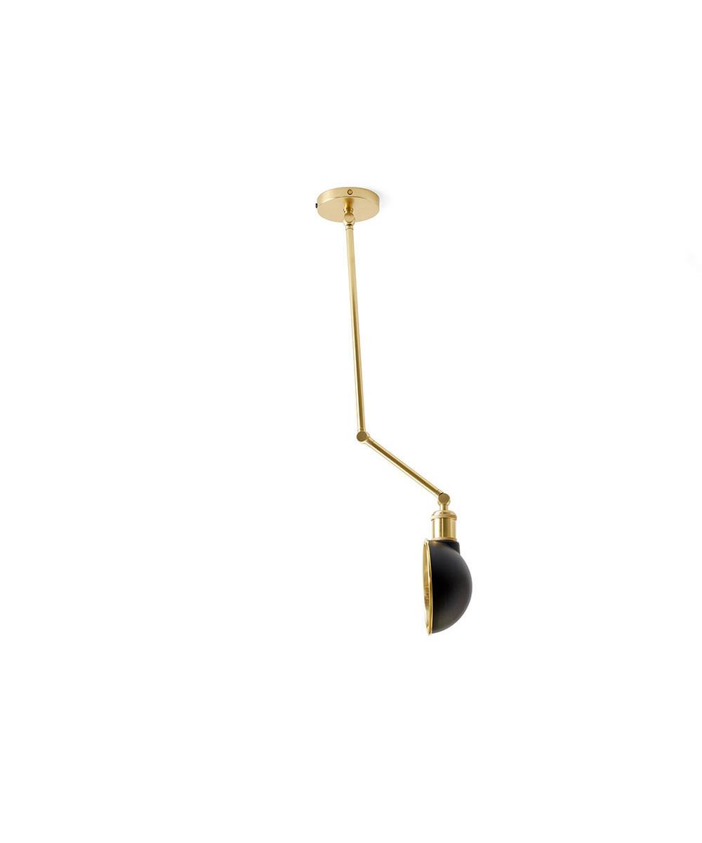 Hudson Loftlampe/Væglampe Sort/Messing - Menu