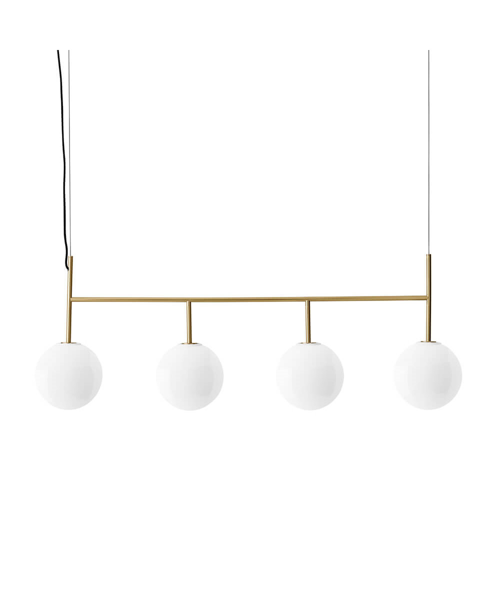 TR Bulb Suspension Frame Brushed Brass/Shiny Opal (Dim-To-Warm) - Menu thumbnail