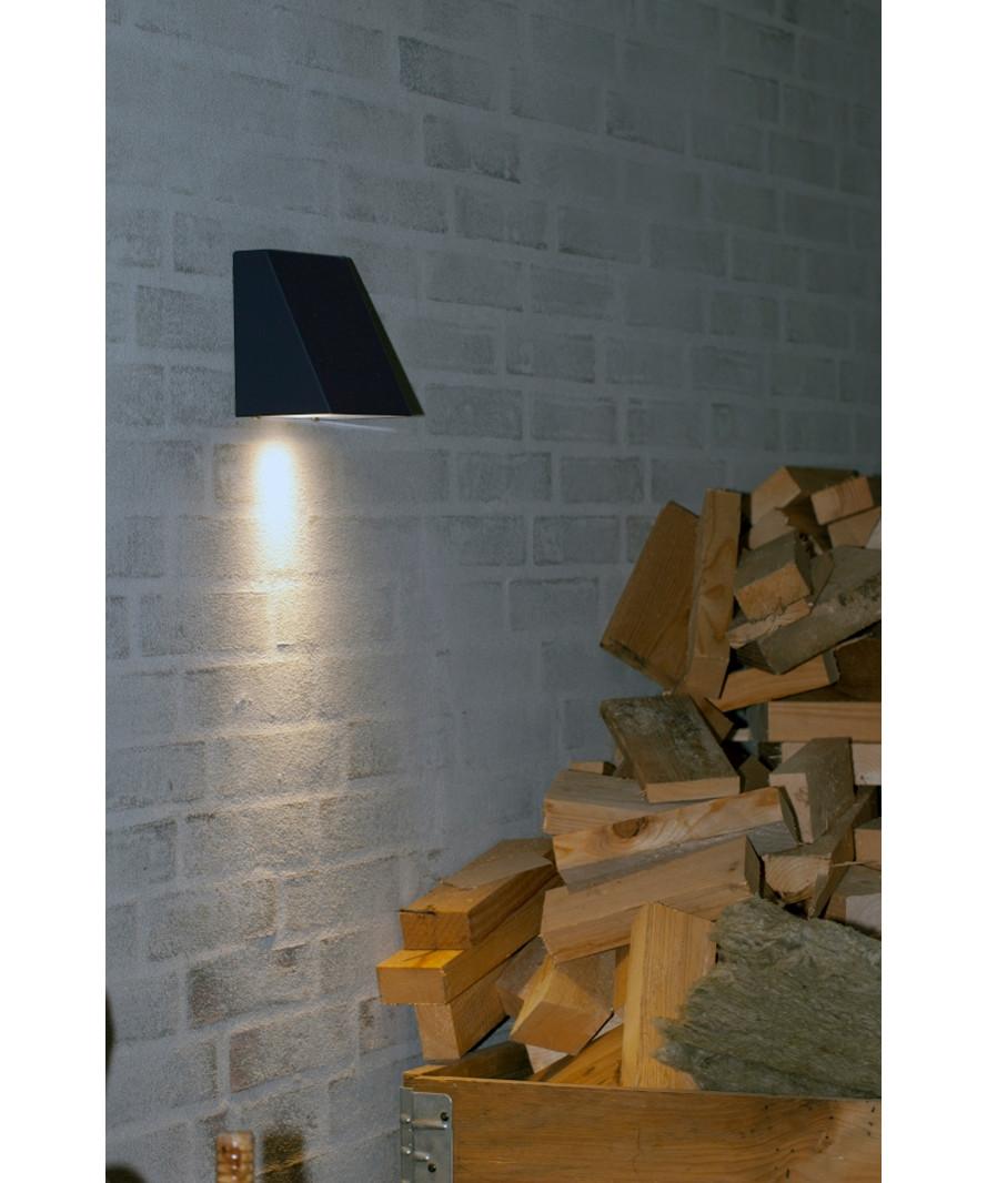 Felix Udendørs Væglampe Sort - David Superlight