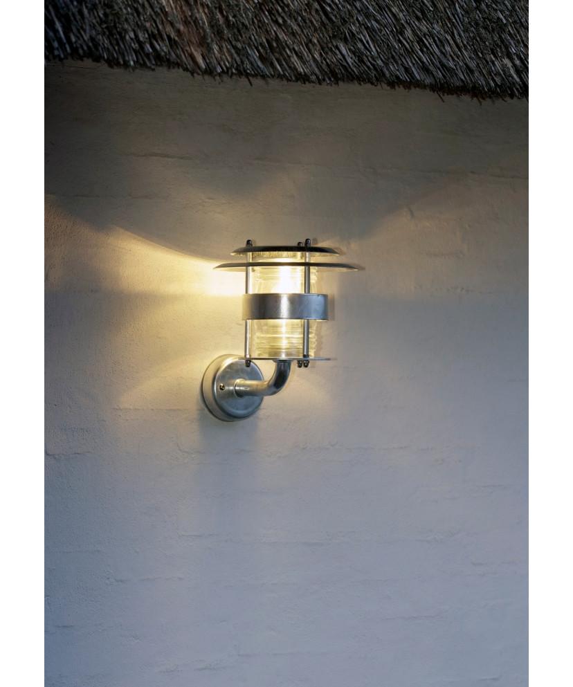 Jonas udendørs væglampe galvaniseret