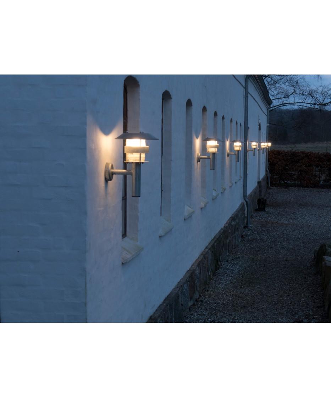 Thomas Udendørs Væglampe Galvaniseret/Klar Polycarbonat - David Superlight