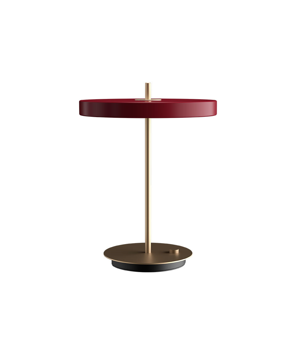 Image of   Asteria Bordlampe Ruby Red - UMAGE