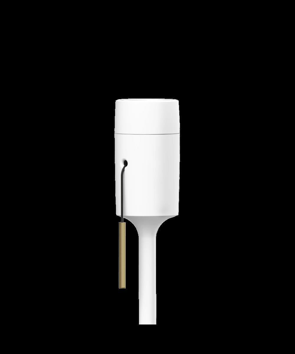 Champagne stand gulvstativ hvid