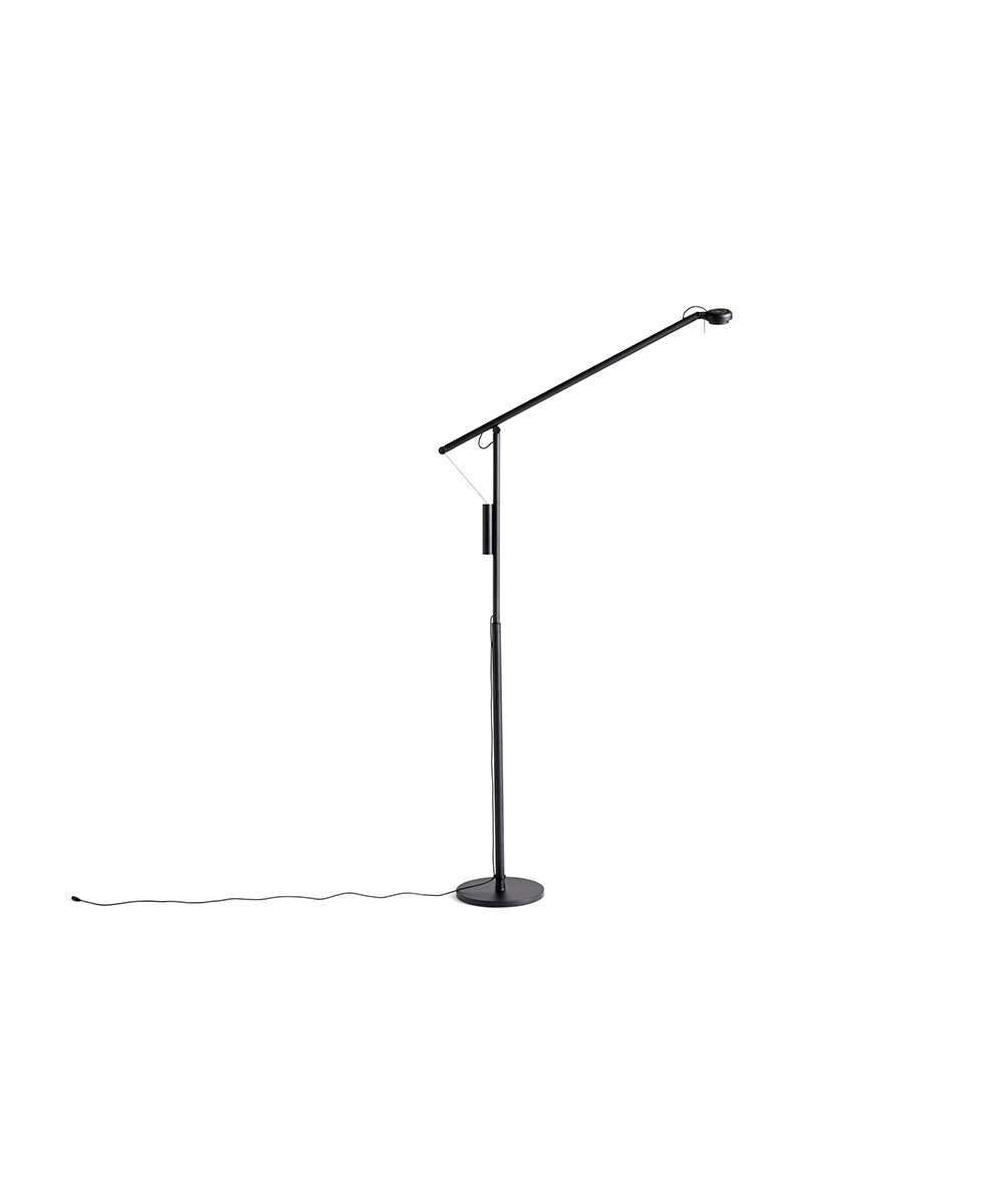 Image of   Fifty-Fifty Gulvlampe Soft black - HAY