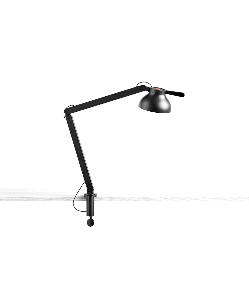 PC Bordlampe 2 arme m. klemme Soft Black - HAY