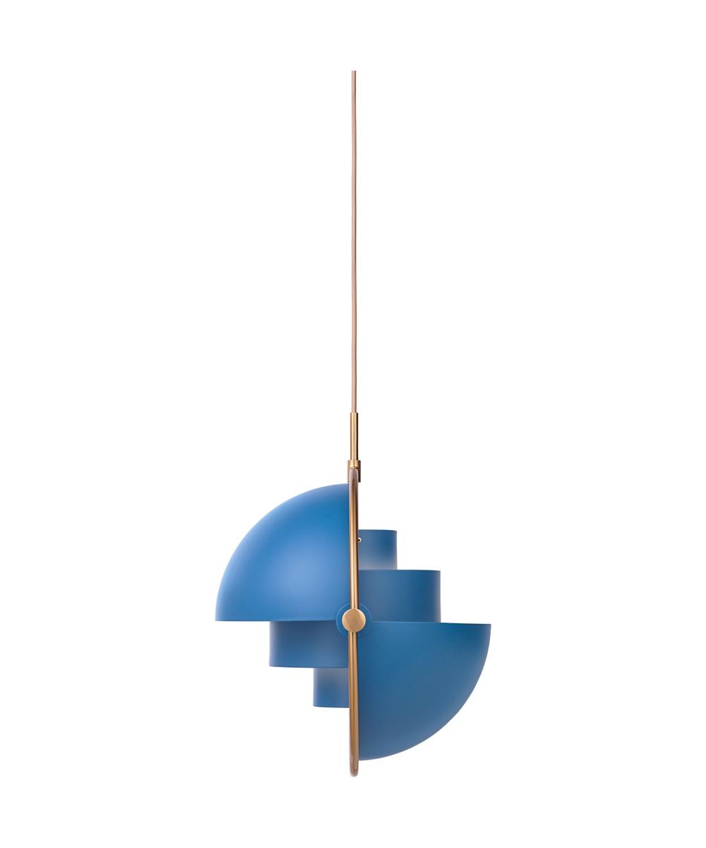 multi lite pendelleuchte 36 messing blau gubi. Black Bedroom Furniture Sets. Home Design Ideas