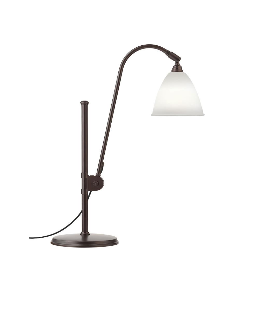 BL1 Bordlampe Ø16 Sort Messing/Porcelæn - GUBI