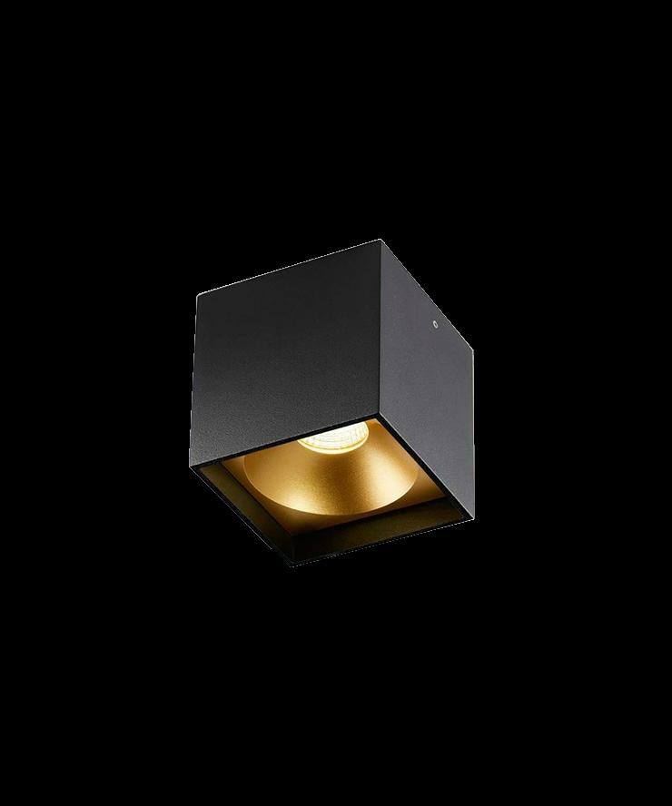 solo square deckenleuchte schwarz gold light point. Black Bedroom Furniture Sets. Home Design Ideas