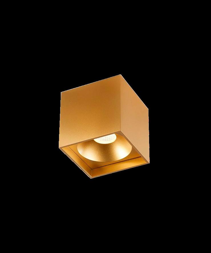 Solo square deckenleuchte gold light point for Deckenleuchte gold
