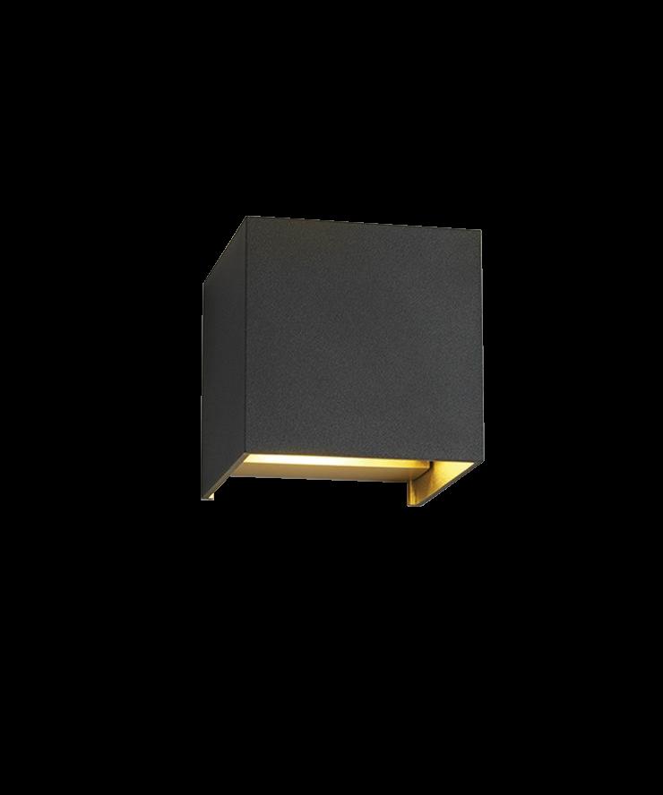 box up down wandleuchte schwarz gold light point. Black Bedroom Furniture Sets. Home Design Ideas