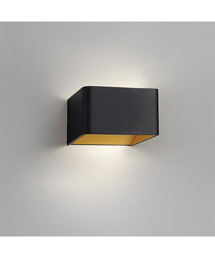 mood 1 led wandleuchte schwarz gold light point. Black Bedroom Furniture Sets. Home Design Ideas