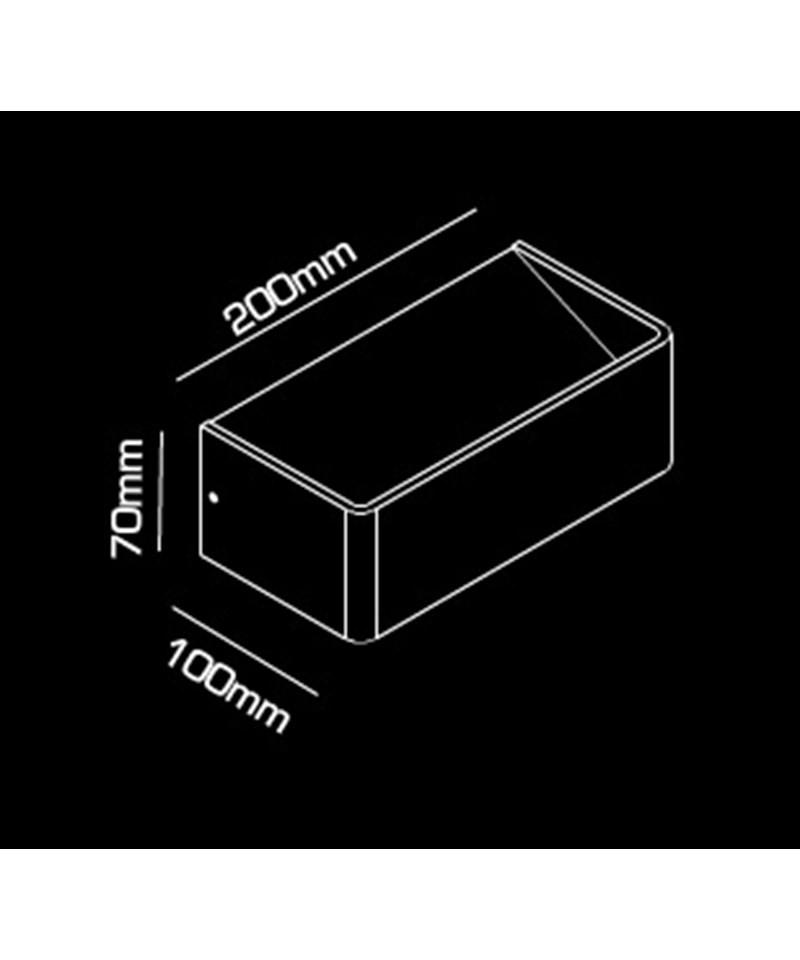 Mood 2 LED Vegglampe Svart/Gull - LIGHT-POINT