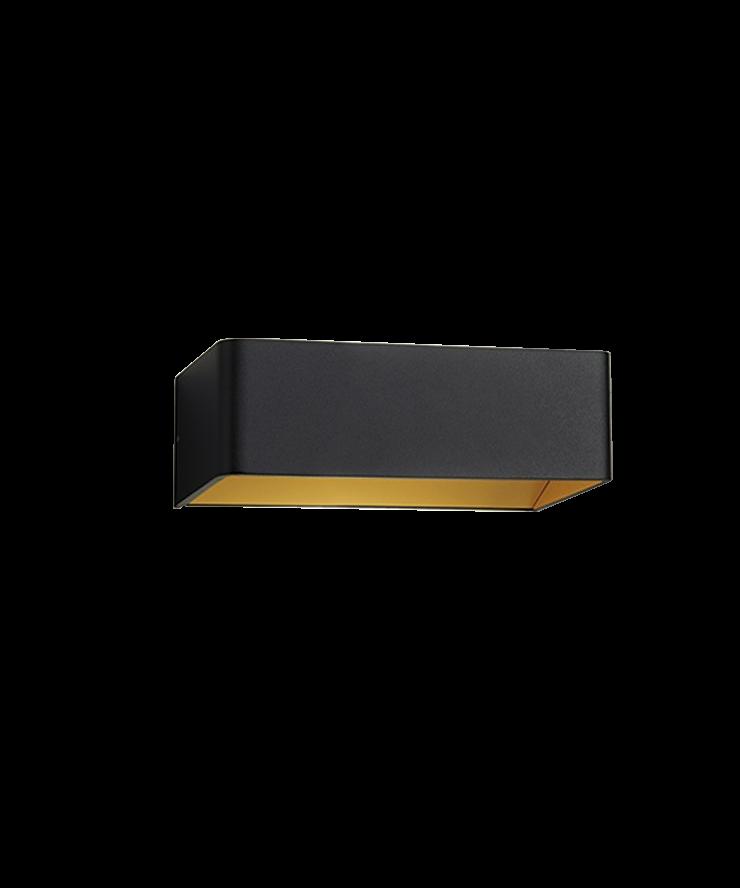 mood 2 led wandleuchte schwarz gold light point. Black Bedroom Furniture Sets. Home Design Ideas
