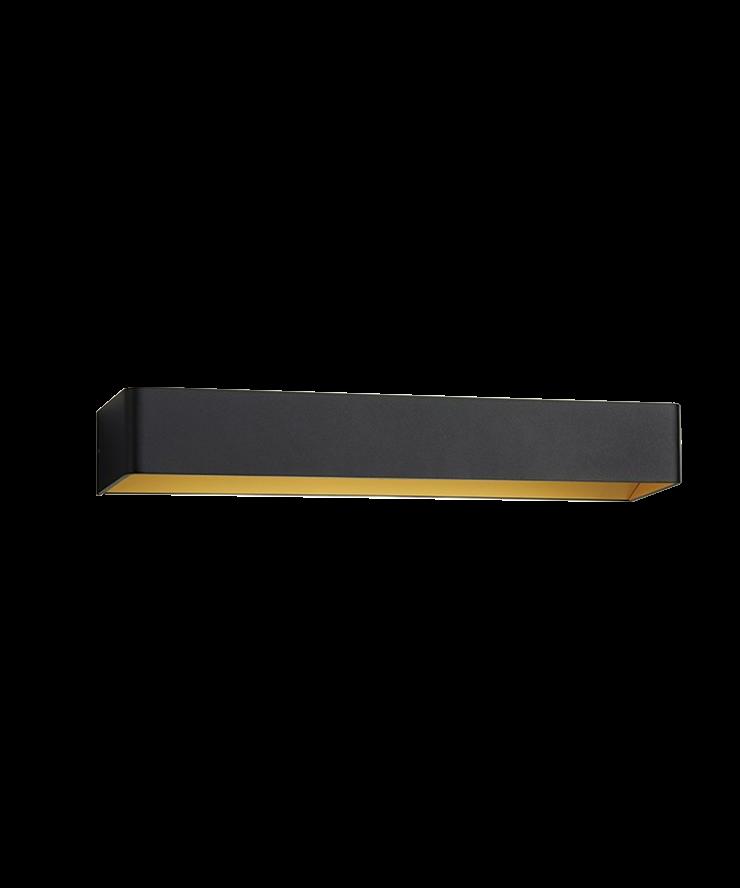 mood 3 led wandleuchte schwarz gold light point. Black Bedroom Furniture Sets. Home Design Ideas