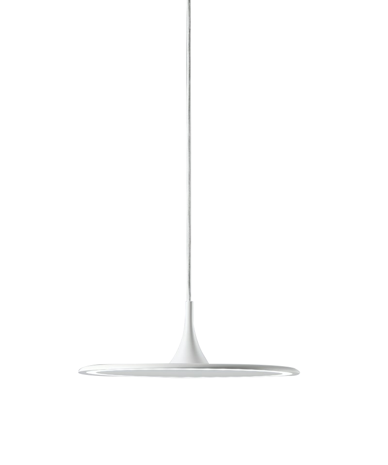 Flat s1 pendel hvid