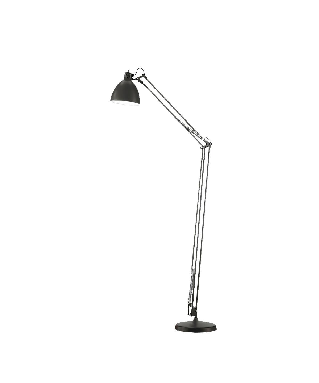 Design  Ronni Gol for Light Point  Koncept  Et designikon og et stykke historie, som spænder over generationer, hvor Archi F1 gulvlampe har oplyst alt fra arbejdsborde til læsehjørnet i hjemmet.  Archi F1 gulvlampe - her i mat sort - kan også vælges i mat hvid og sort/guld.  Derudover findes flere forskellige bordlamper at vælge imellem - samt væglamper, pendler og gulvlamper.  Archi F1 gulvlampen erstatter den tidligere JJ lampeserie. Samme høje kvalitet.