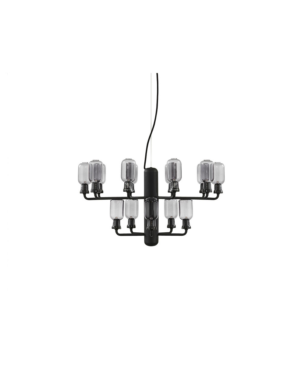 Amp chandelier small smoke/black