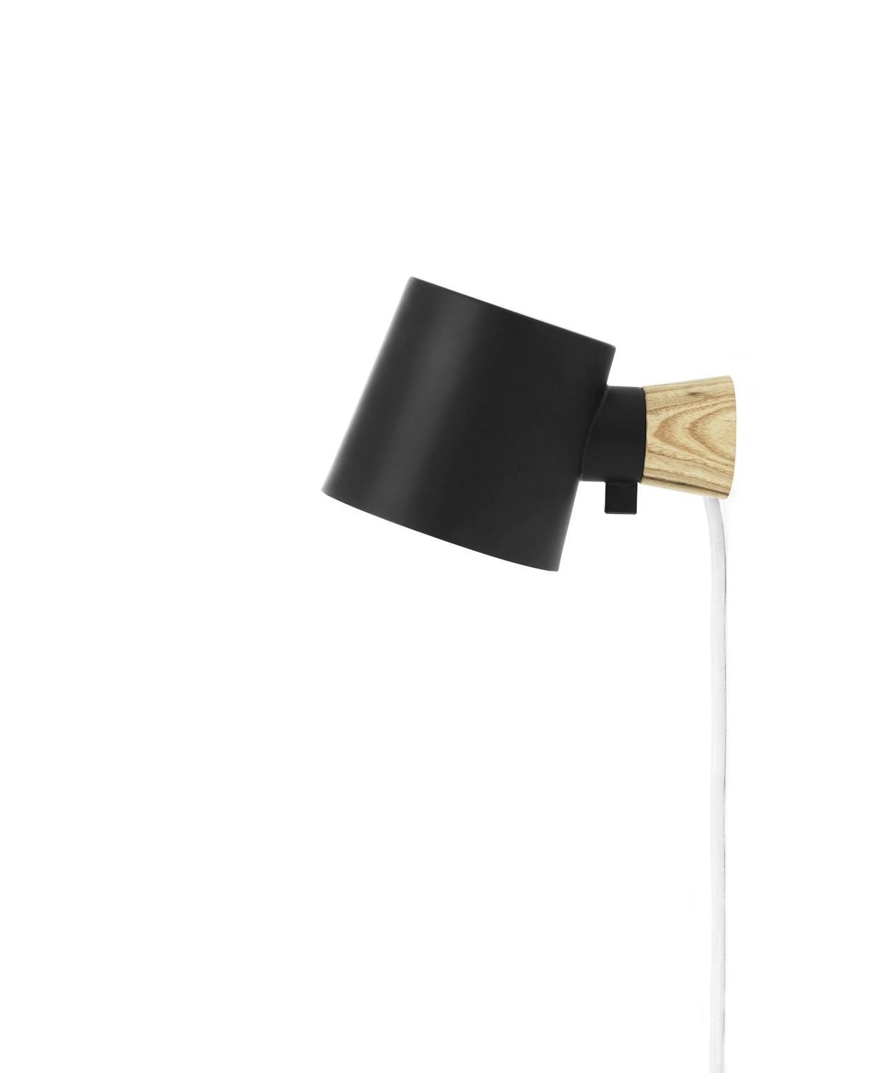 Rise væglampe sort