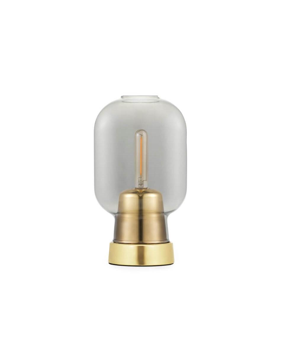 Amp bordlampe røg/messing