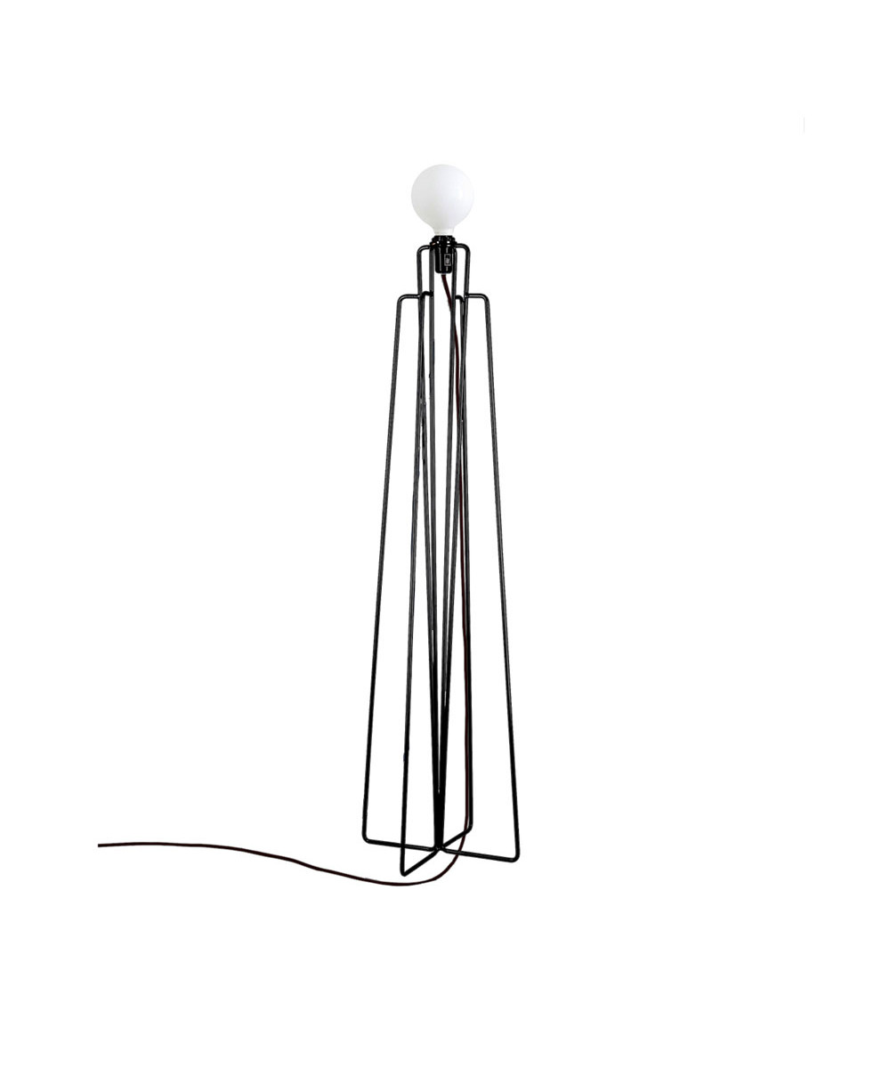 Model 1 gulvlampe sort