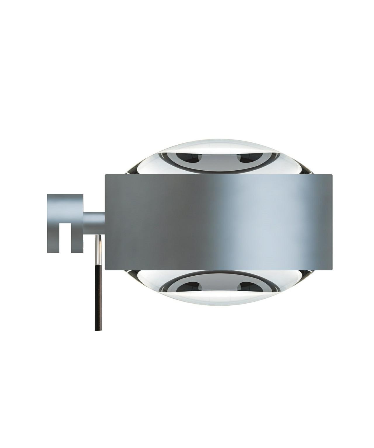 Puk Maxx LED Væglampe Lens + Lens Mat Krom - Top Light