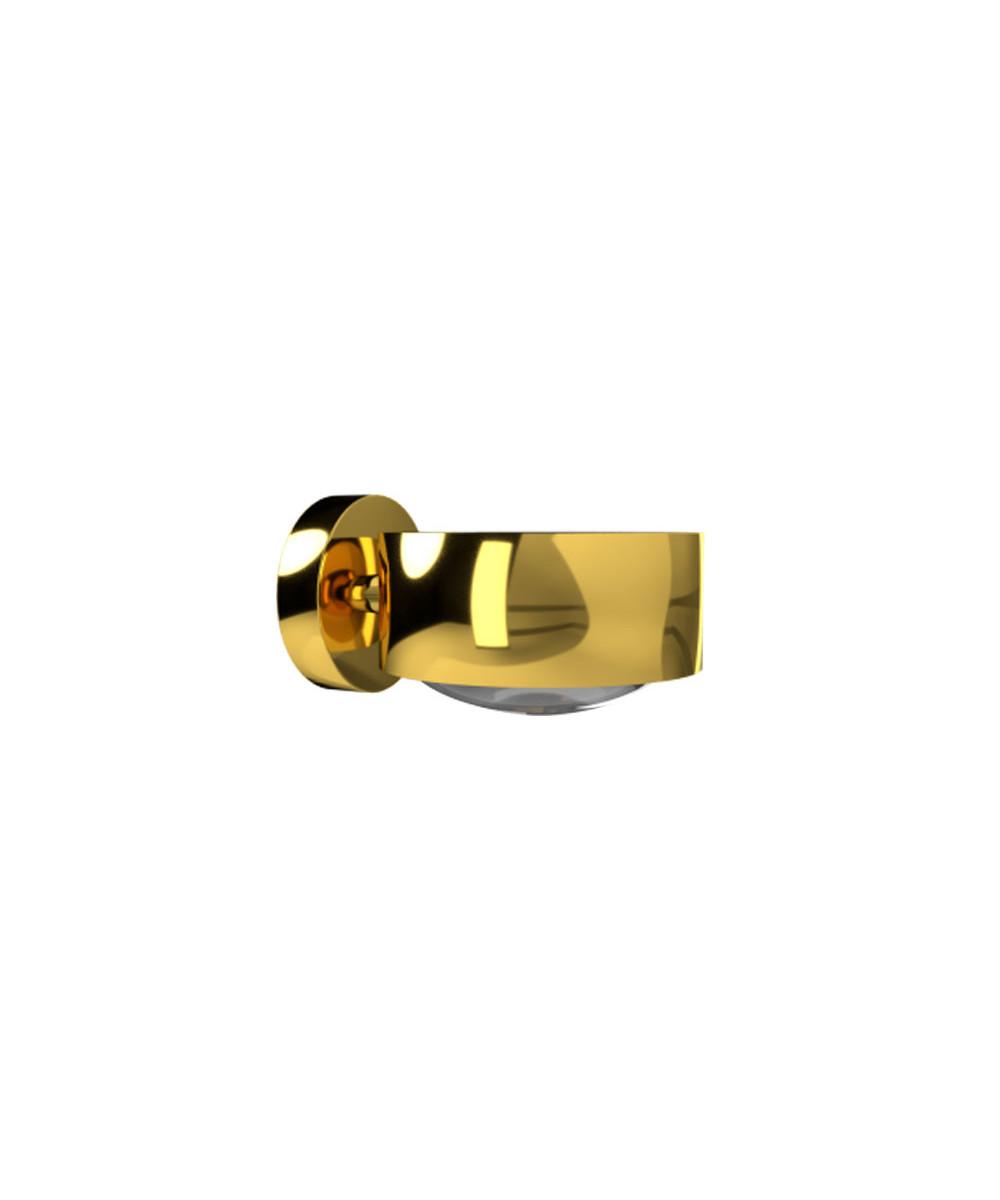 Puk Maxx LED Vegglampe Lens + Glass Gull - Top Light