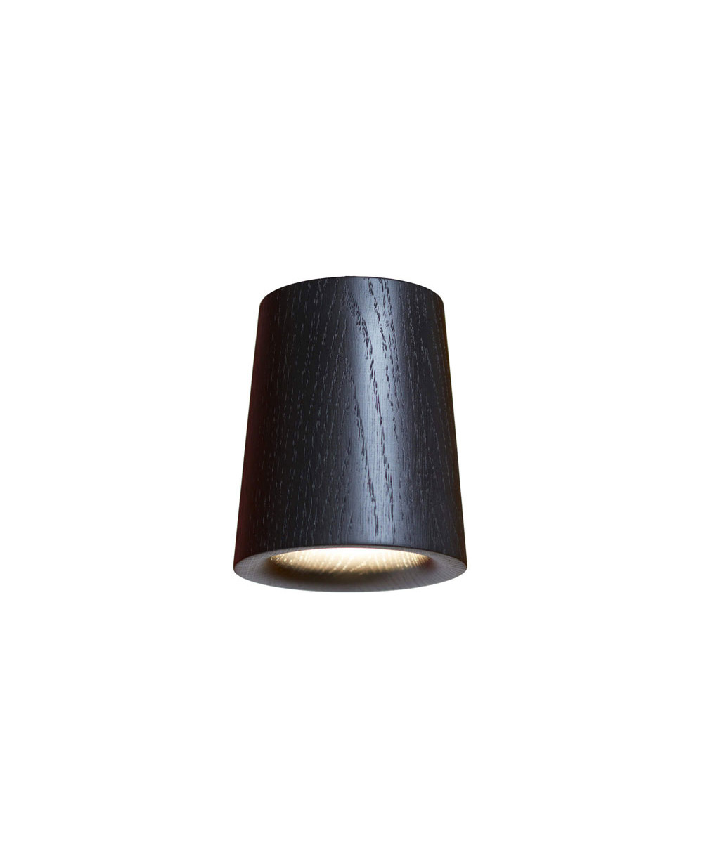 Solid downlight cone black stained oak