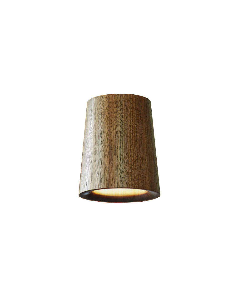 Solid Downlight Cone Walnut - Terence Woodgate