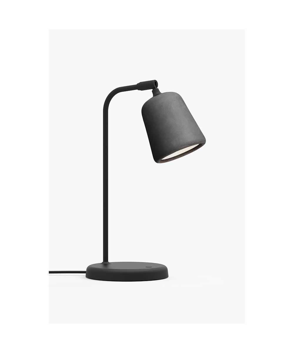 Image of   Material Bordlampe Dark Grey Concrete - New Works