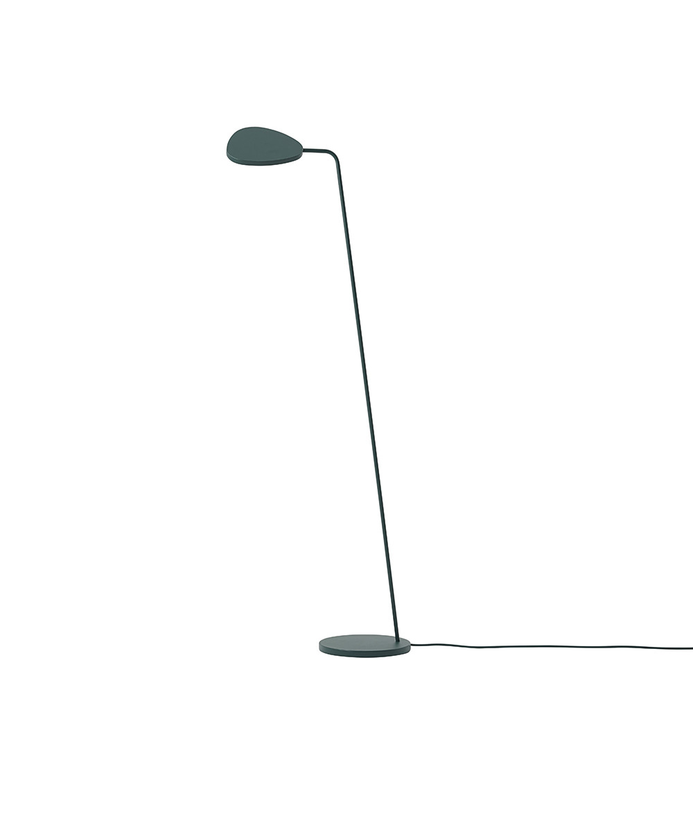 Leaf Gulvlampe Dark Green - Muuto